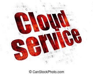 Cloud technology concept: Cloud Service on Digital background