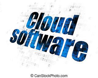Cloud technology concept: Cloud Software on Digital background