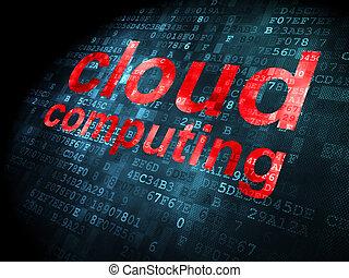 Cloud technology concept: Cloud Computing on digital background