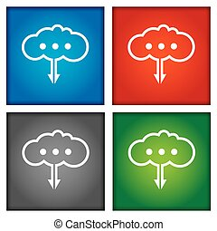 Cloud technology concept.