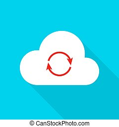 Cloud Technology Flat Icon
