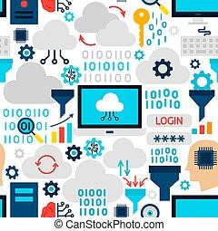Cloud Technology Seamless Pattern