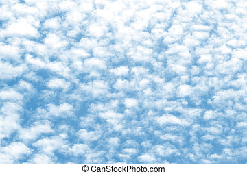 Cloud texture on a blue sky background