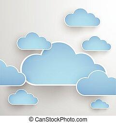 Cloud theme vector background. Eps 10