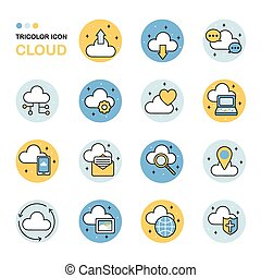 cloud thin line icon