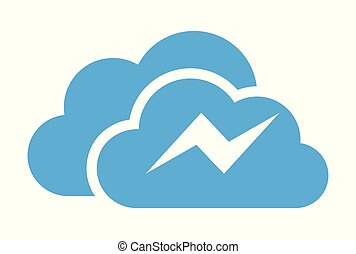 cloud thunderbolt logo vector
