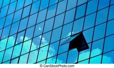 cloud time lapse on window