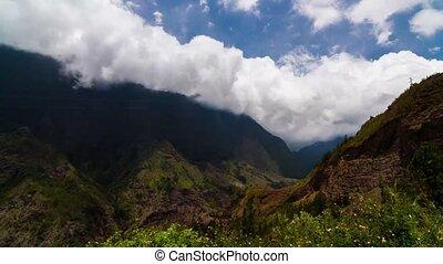 Cloud Timelapse at La Reunion - Timelapse showing nice cloud...