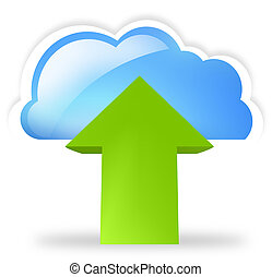 cloud up and download blue symbol symbol