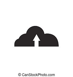 cloud up Card icon on white background , Vector.