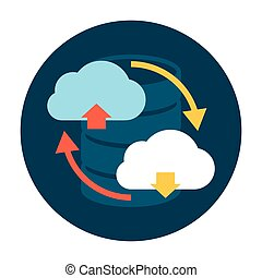 Cloud Upload and Download Icon