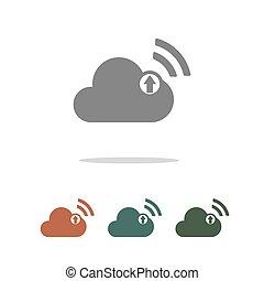 cloud upload icon isolated on white background