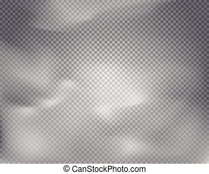 Cloud vector effect on transparent background