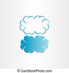 cloud vector frame icon background design