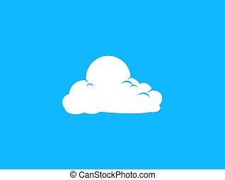 Cloud vector illustration on blue sky