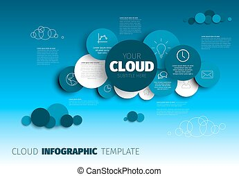 Cloud - Vector Infographic template
