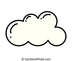 cloud weather on white background