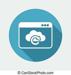 Cloud window - Flat minimal icon