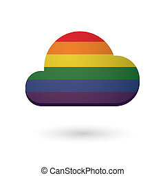 Cloud with a gay pride flag