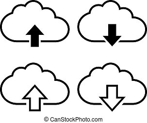 Cloud with arrow icon