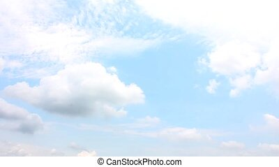 cloud with blue sky time lapse
