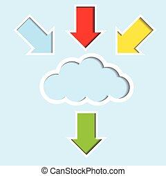 Cloud with color arrow