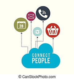 cloud with connect people