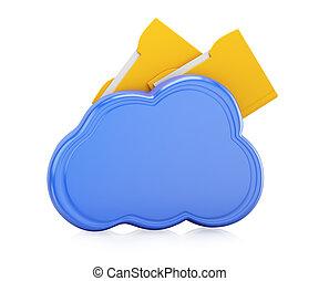 Cloud with folders