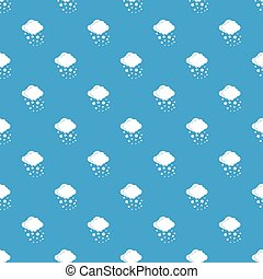 Cloud with hail pattern seamless blue