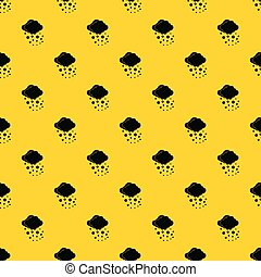 Cloud with hail pattern vector