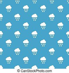 Cloud with rain drops pattern seamless blue