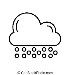 cloud with snow weather line style icon