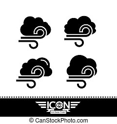 cloud with wind icon