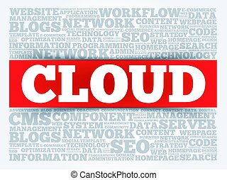 CLOUD. word cloud