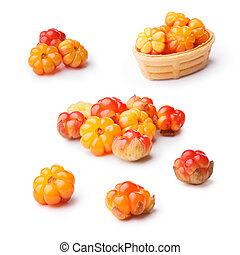 Cloudberry set isolated