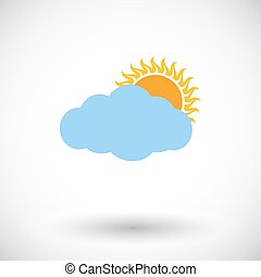 cloudiness, svobodný, icon.