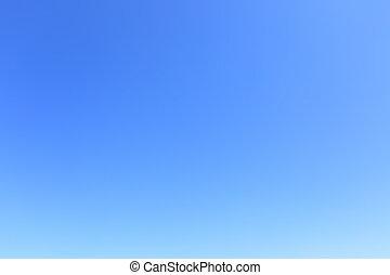 Cloudless blue sky