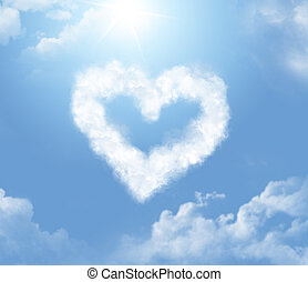 Cloudlet in the form of a heart - Cloudlet in the shape of a...