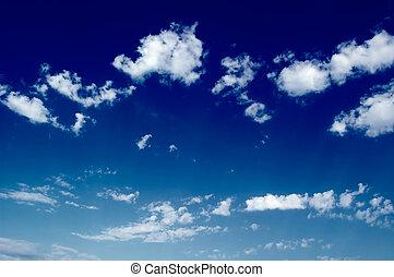 , clouds.