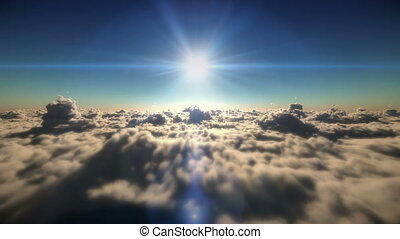 clouds above fly sunset