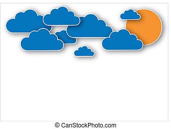 Clouds against a good design for a variety of purposes