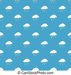 Clouds and hail pattern seamless blue