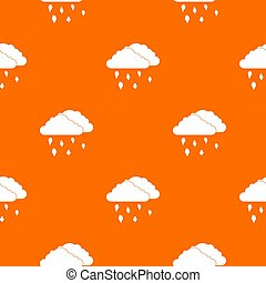 Clouds and hail pattern seamless
