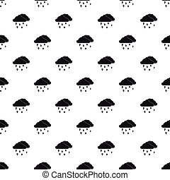 Clouds and hail pattern, simple style