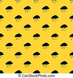 Clouds and hail pattern vector