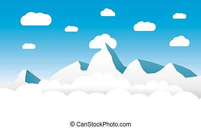 Clouds and mountains background