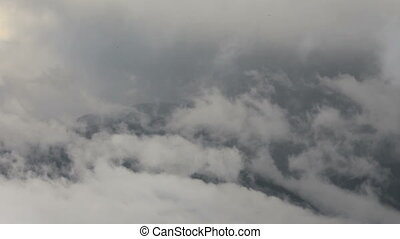 Clouds and mountains