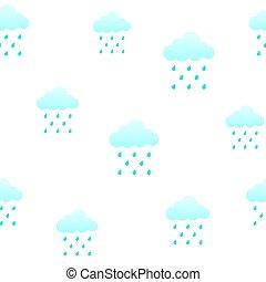 Clouds and rain. seamless pattern