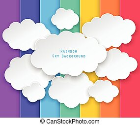 clouds and rainbow sky background