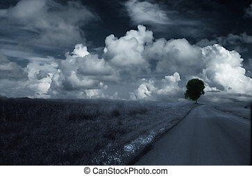 Cloud\'s and road